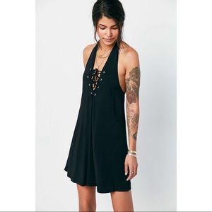 {UO} ecotè v neck halter dress